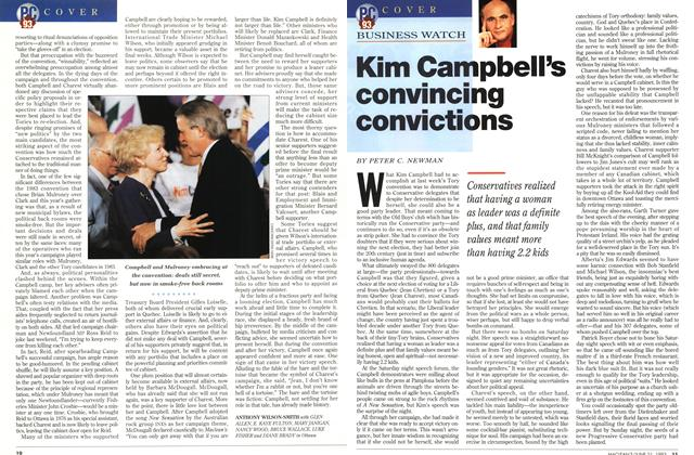 Article Preview: Kim Campbell's convincing convictions, June 1993 | Maclean's