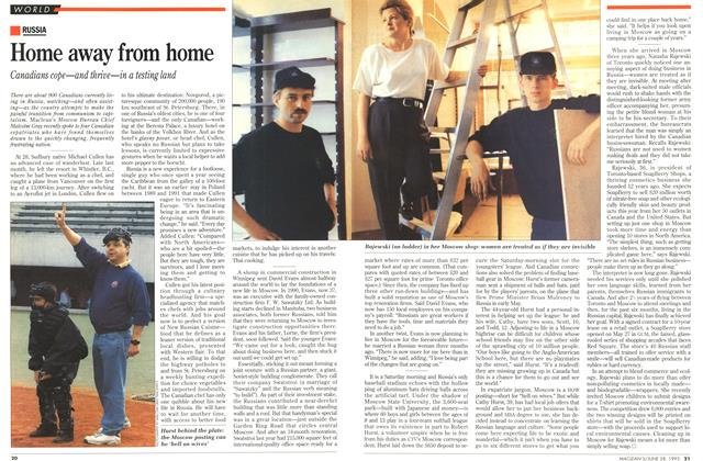 Article Preview: Home away from home, June 1993 | Maclean's