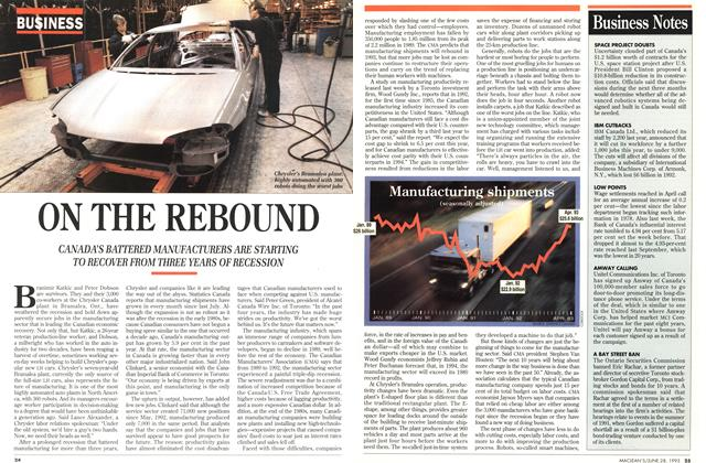 Article Preview: ON THE REBOUND, June 1993 | Maclean's