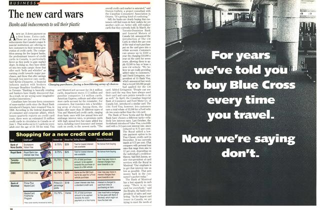 Article Preview: The new card wars, June 1993 | Maclean's
