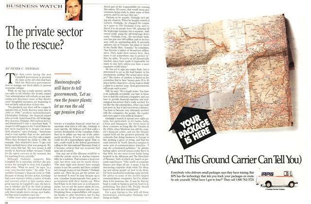 Article Preview: The private sector to the rescue?, June 1993 | Maclean's
