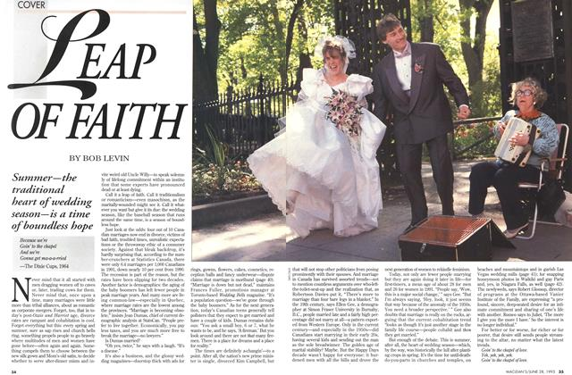 Article Preview: LEAP OF FAITH, June 1993 | Maclean's