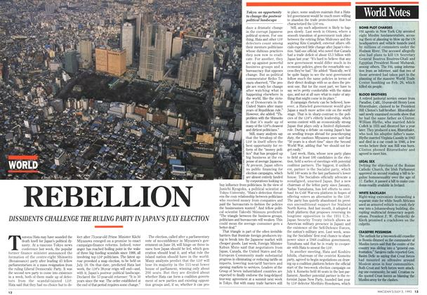 Article Preview: REBELLION, July 1993 | Maclean's