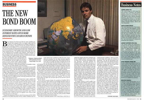 Article Preview: THE NEW BOND BOOM, July 1993 | Maclean's