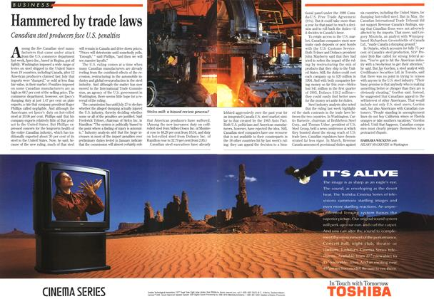 Article Preview: Hammered by trade laws, July 1993 | Maclean's