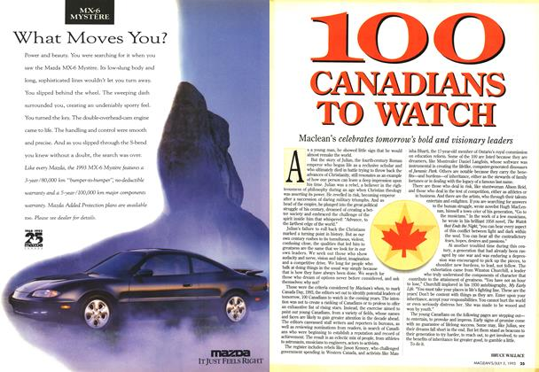 Article Preview: 100 CANADIANS TO WATCH, July 1993 | Maclean's