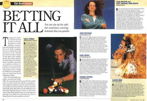 Article Preview: BETTING IT ALL, July 1993 | Maclean's