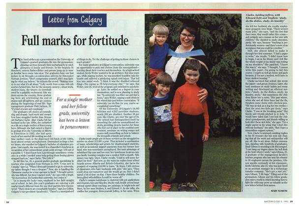 Article Preview: Full marks for fortitude, July 1993 | Maclean's