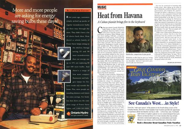 Article Preview: Heat from Havana, July 1993 | Maclean's