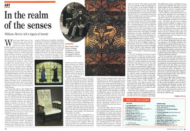 Article Preview: In the realm of the senses, July 1993 | Maclean's