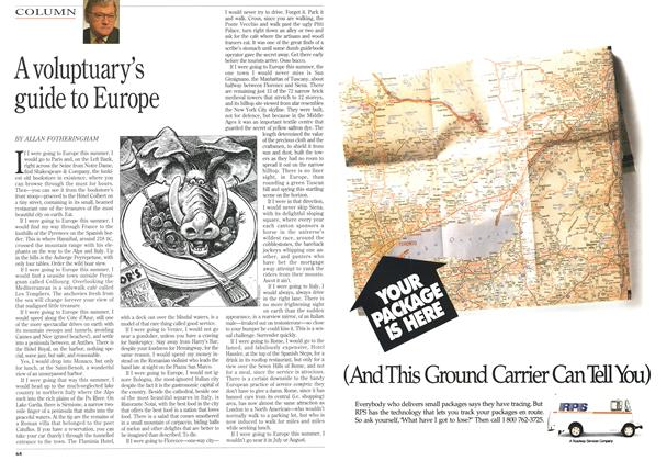 Article Preview: A voluptuary's guide to Europe, July 1993 | Maclean's