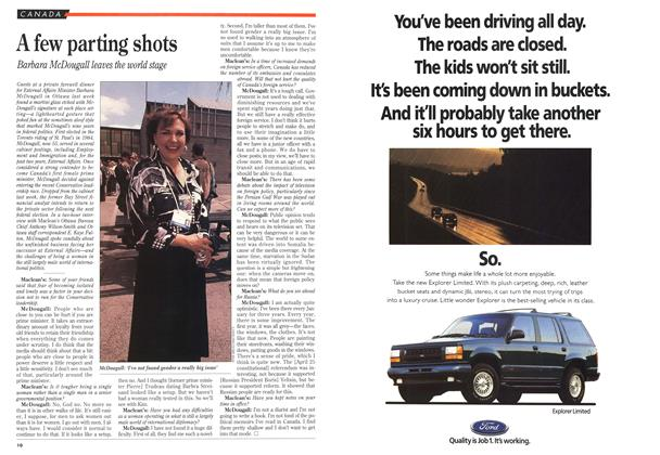 Article Preview: A few parting shots, July 1993 | Maclean's