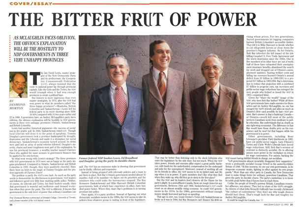 Article Preview: THE BITTER FRUT OF POWER, July 1993 | Maclean's
