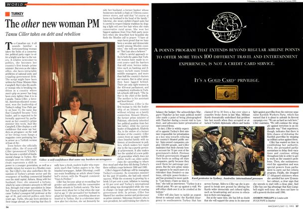 Article Preview: The other new woman PM, July 1993 | Maclean's