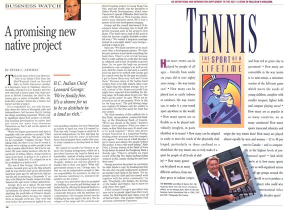 Article Preview: A promising new native project, July 1993 | Maclean's