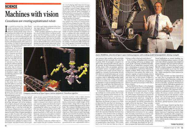 Article Preview: Machines with vision, July 1993 | Maclean's