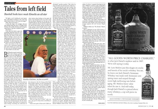 Article Preview: Tales from left field, July 1993 | Maclean's