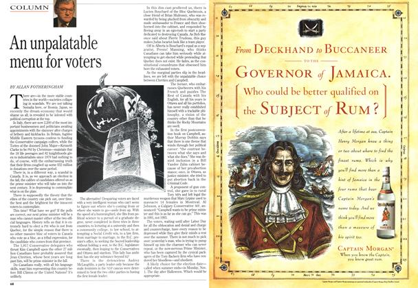Article Preview: An unpalatable menu for voters, July 1993   Maclean's