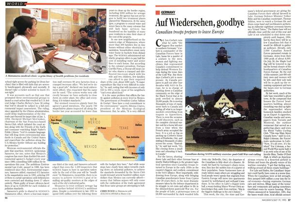 Article Preview: Auf Wiedersehen, goodbye, July 1993 | Maclean's