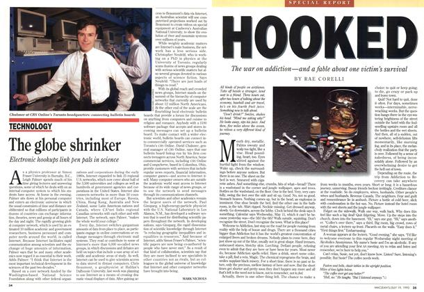 Article Preview: The globe shrinker, July 1993 | Maclean's