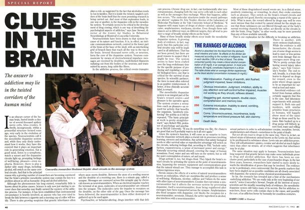 Article Preview: CLUES IN THE BRAIN, July 1993 | Maclean's