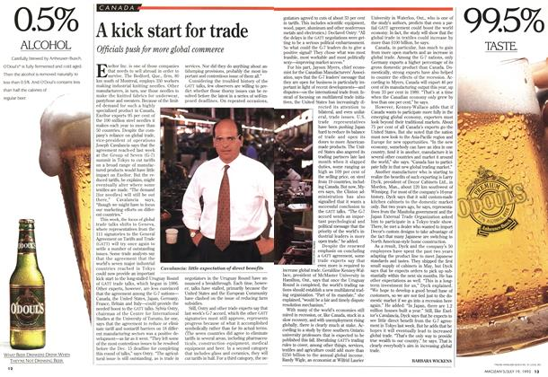 Article Preview: A kick start for trade, July 1993 | Maclean's