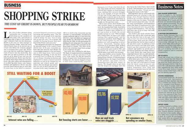Article Preview: SHOPPING STRIKE, July 1993 | Maclean's