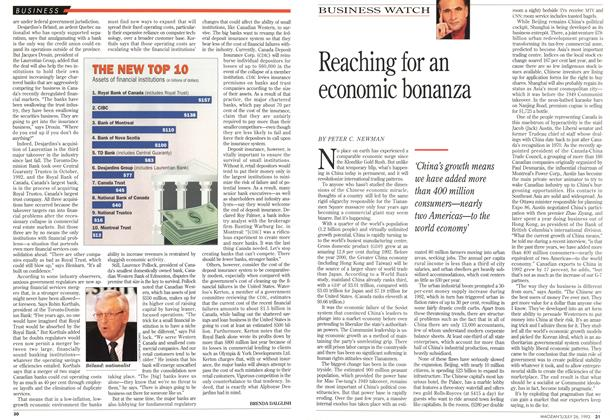 Article Preview: Reaching for an economic bonanza, July 1993 | Maclean's