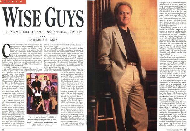 Article Preview: WISE GUYS, July 1993 | Maclean's