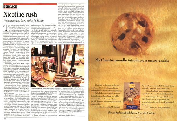 Article Preview: Nicotine rush, July 1993 | Maclean's
