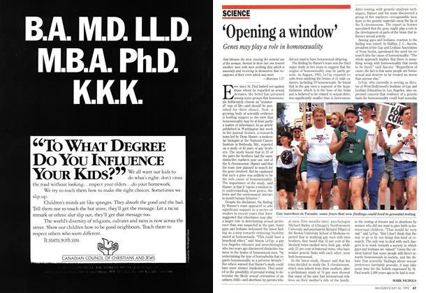 Article Preview: 'Opening a window', July 1993 | Maclean's