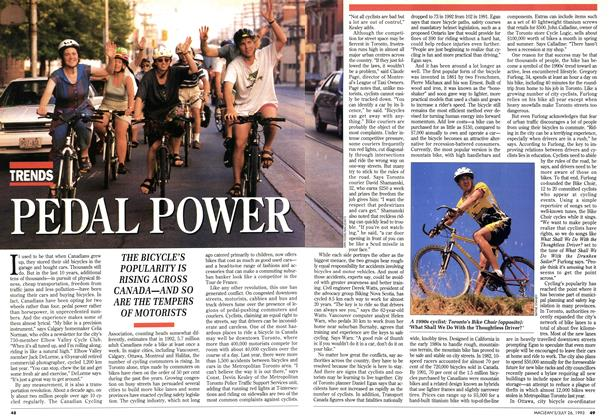 Article Preview: PEDAL POWER, July 1993 | Maclean's