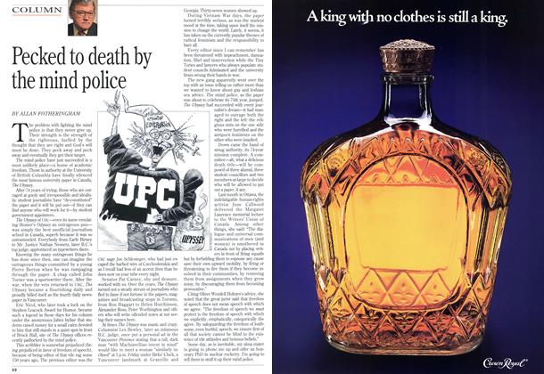 Article Preview: Pecked to death by the mind police, July 1993 | Maclean's