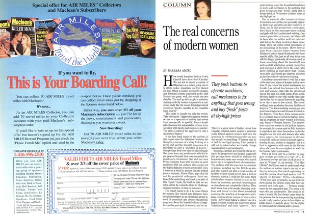 Article Preview: The real concerns of modern women, July 1993 | Maclean's