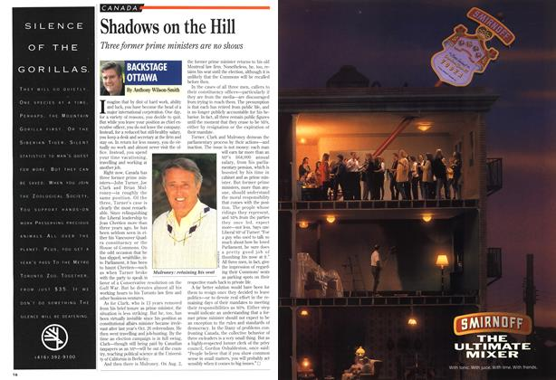 Article Preview: Shadows on the Hill, August 1993 | Maclean's