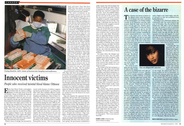 Article Preview: A case of the bizarre, August 1993 | Maclean's
