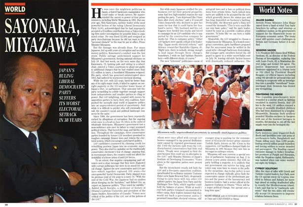 Article Preview: SAYONARA, MIYAZAWA, August 1993 | Maclean's