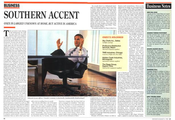 Article Preview: Business Notes, August 1993 | Maclean's