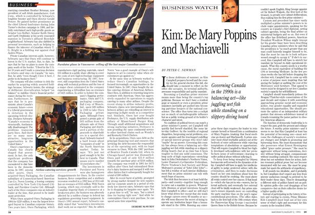 Article Preview: Kim: Be Mary Poppins and Machiavelli, August 1993 | Maclean's