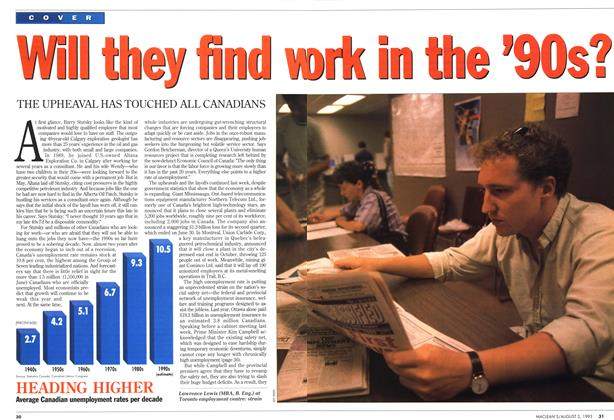Article Preview: Will they find work in the '90s?, August 1993 | Maclean's