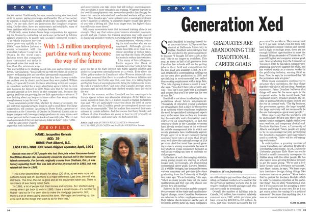 Article Preview: Generation Xed, August 1993 | Maclean's
