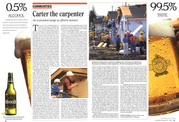 Article Preview: Carter the carpenter, August 1993 | Maclean's