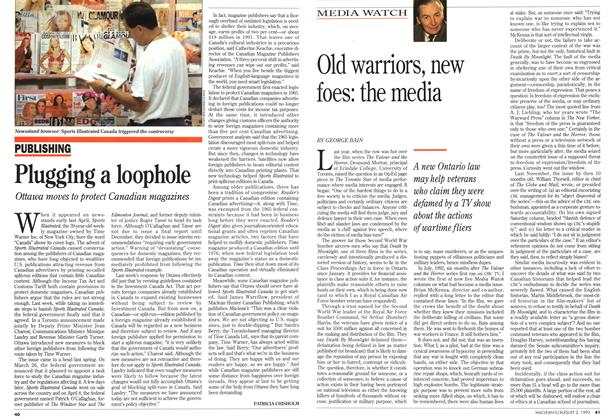 Article Preview: Old warriors, new foes: the media, August 1993 | Maclean's