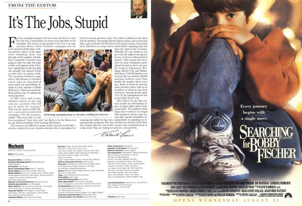 Article Preview: It's The Jobs, Stupid, August 1993 | Maclean's