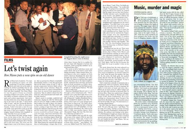 Article Preview: Let's twist again, August 1993 | Maclean's