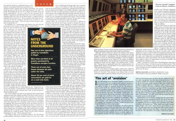Article Preview: The art of 'avoision', August 1993 | Maclean's