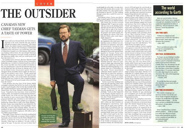 Article Preview: THE OUTSIDER, August 1993 | Maclean's
