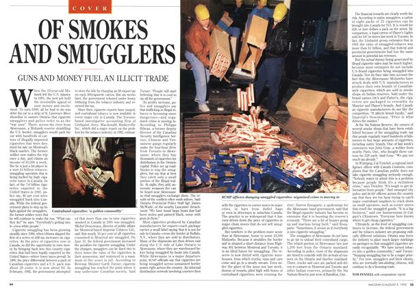 Article Preview: OF SMOKES AND SMUGGLERS, August 1993 | Maclean's