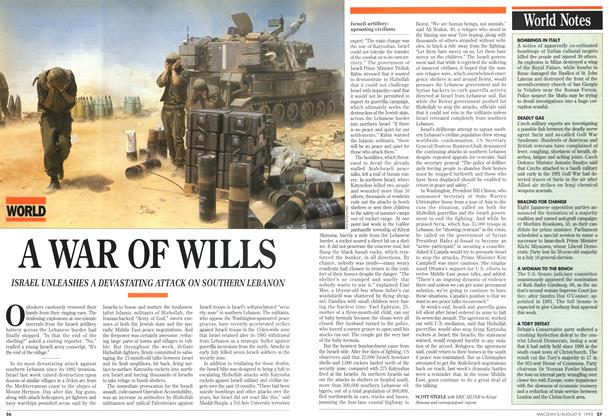 Article Preview: A WAR OF WILLS, August 1993 | Maclean's