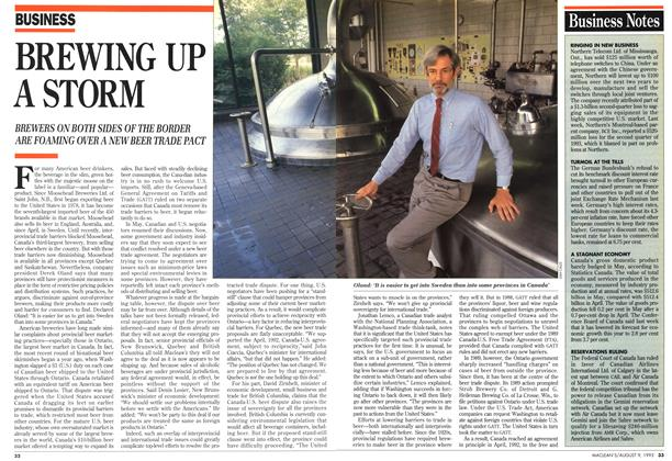Article Preview: BREWING UP A STORM, August 1993 | Maclean's